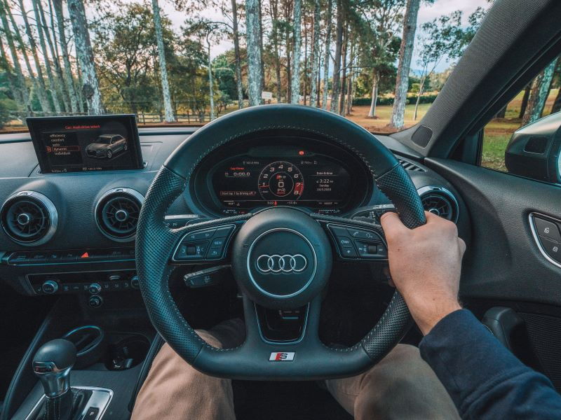 driver view in car